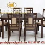 set kursi makan minimalis jati