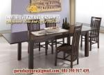 Set meja makan jati jepara