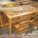 Kursi Makan Kartini Ukir Bamboo