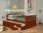 Tempat tidur minimalis laci dorong
