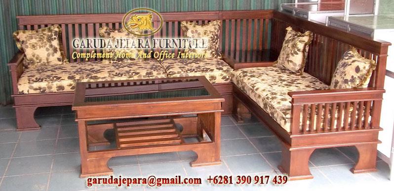 Kursi Sudut Jati Minimalis Garuda Jepara Furniture