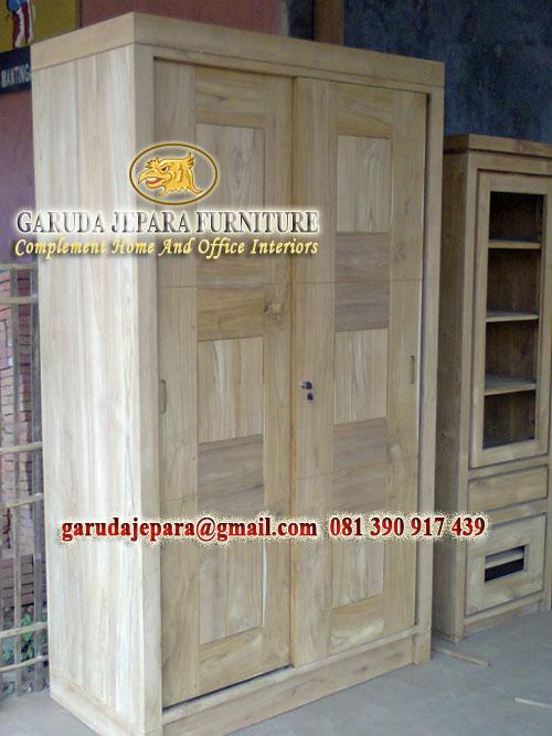 Lemari minimalis sliding pintu
