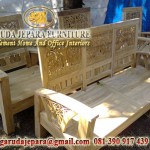 Kursi Tamu Minimalis jati Ukir bambu