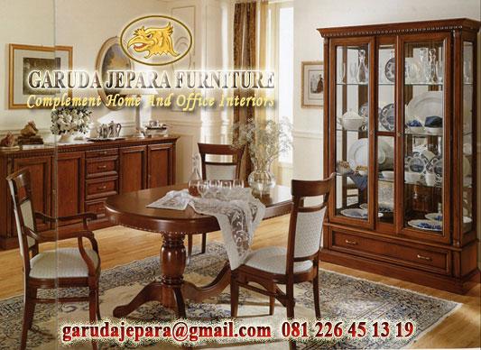 Set Ruang Makan Kayu Jati Lafonte