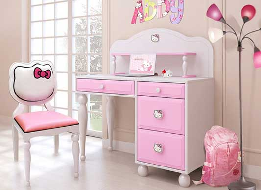 Set Meja Belajar Hello Kitty Kaki Bubutan