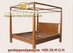 Tempat Tidur Minimalis Tiang Kayu Jati