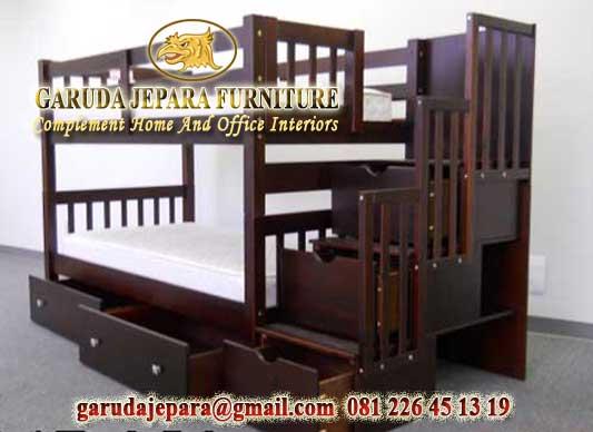 Tempat tidur susun laci 54