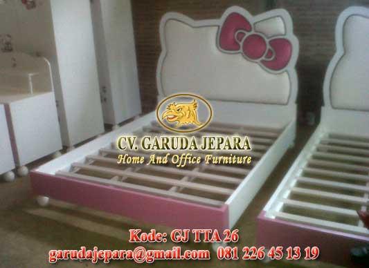Tempat Tidur Minimalis Hello Kitty White