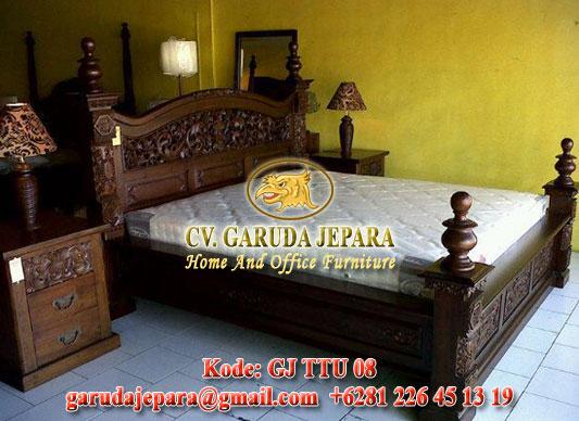 Tempat Tidur Ukir Rahwana Jumbo