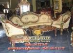 Set Kursi Tamu Mewah Monako Mawar