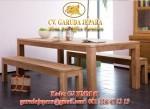 Set Bangku Makan Minimalis Jati Jepara