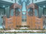 Mimbar Masjid Kayu Jati Ukir Jepara