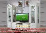 Set Bufet TV Mewah Ukir Duco