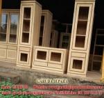 Set Bufet TV Minimalis Kayu Jati