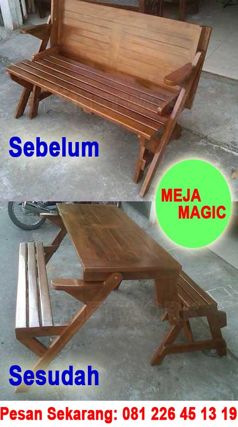 Bangku Meja Magic Jati