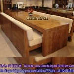 Meja Makan Balok Kayu Besar