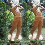 Patung Golf Kayu