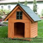 Rumah Hewan Anjing Kayu