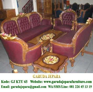 Set Sofa Tamu Ukir Roma