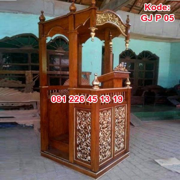 Jual Mimbar Masjid Kayu Jati
