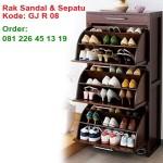 Rak Sepatu Dan Sandal Kayu Jati