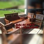 Set Kursi Tamu Minimalis Kotak-Kotak Jokowi